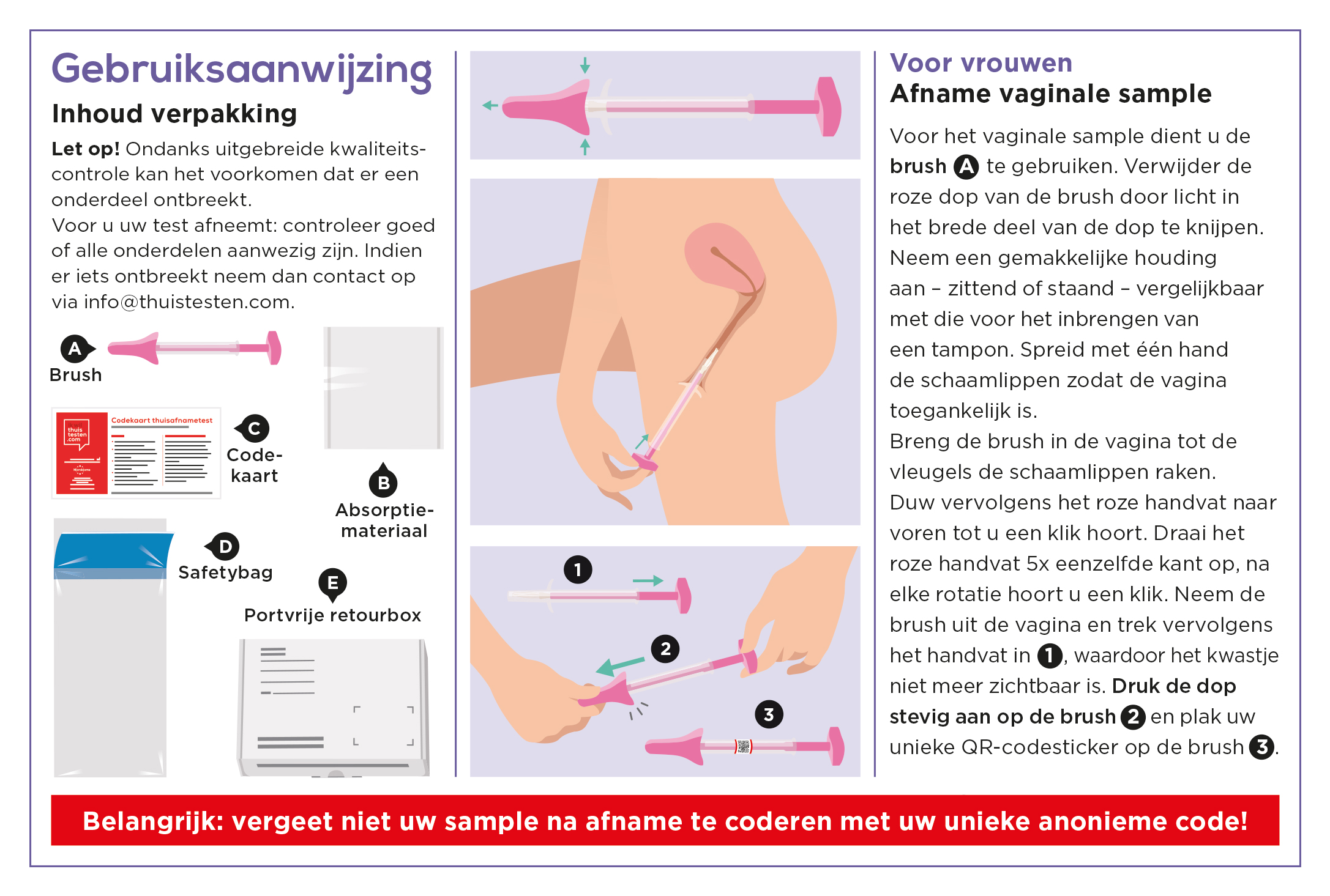 Gebruiksaanwijzing HPV-test