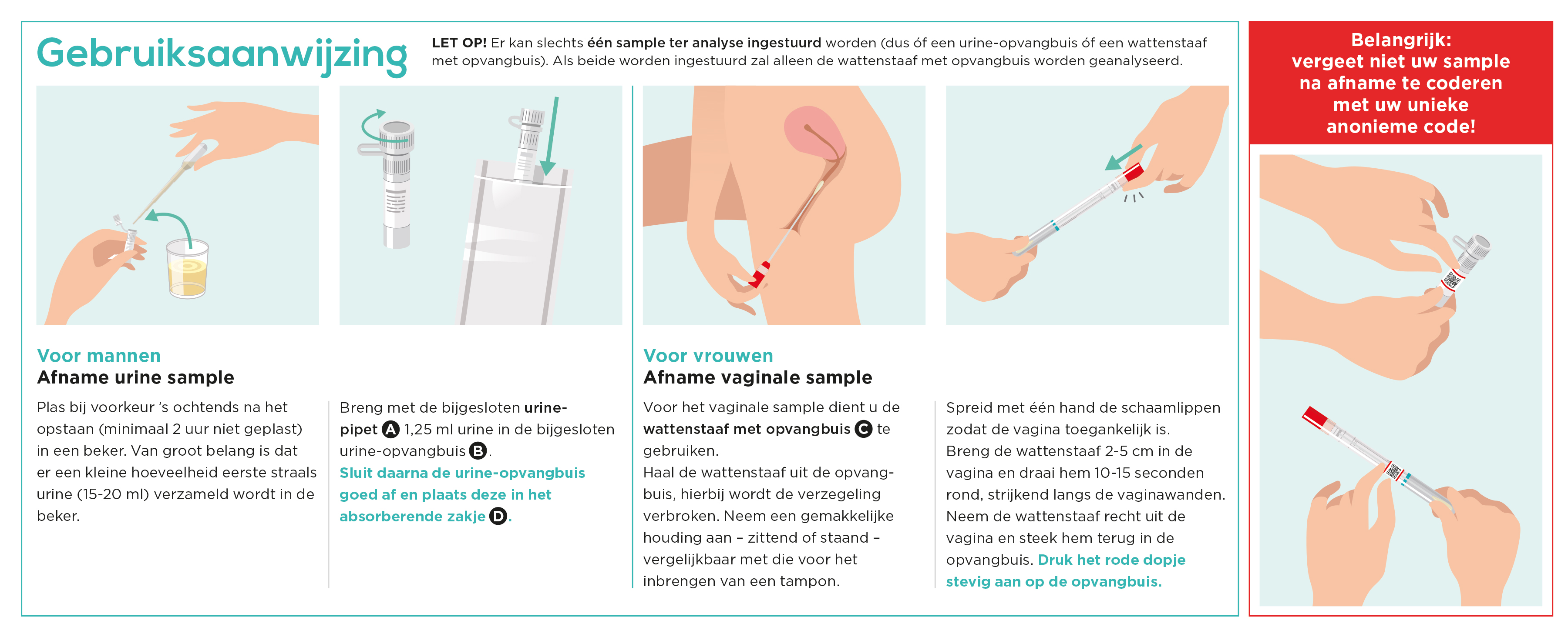 Gebruiksaanwijzing SOA-test vaginaal of urine